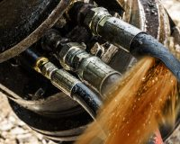 repair or replace hydraulic fitting, hoses, filters, and adapters while you wait